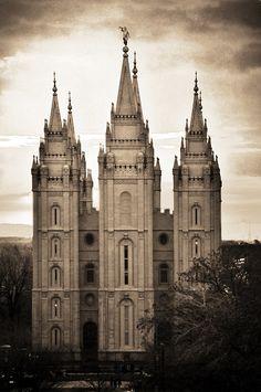 Sepia, Salt Lake Temple