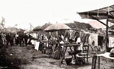 1910 -Vendedoras de mejillones en la Barceloneta. Barcelona, ahora y siempre: oficios desaparecidos