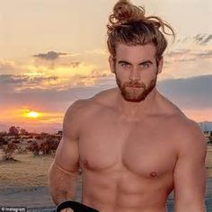 """The originator of the man bun looks great. Internet sensation Brock O'Hurn is HNGN's Man Crush Monday selection for his """"man bun"""" hairstyle, masculine arms and buff body. Moustaches, Brock Ohurn, Street Style Vintage, Old School Style, Ginger Men, Man Bun, Mi Long, Good Looking Men, Facial Hair"""