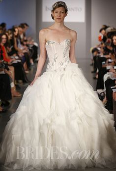 Brides: Ines Di Santo - Spring 2014   Bridal Runway Shows   Wedding Dresses and Style   Brides.com