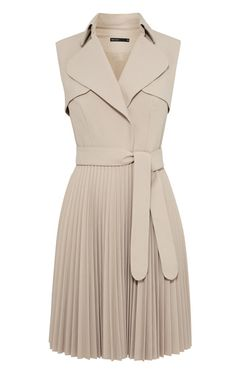 TRENCH COAT DRESS Belted crepe dress softly tailored with pleated skirt DX017 - See more at: http://www.karenmillen.com/trench-coat-dress/new-in/karenmillen/fcp-product/01454652#sthash.CmsucoQw.dpuf