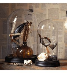 Decor/Accessories - Glass Domes Set of 2 by Two's Company - Organize.com - glass, bell, jar, cloche, domes, stand,