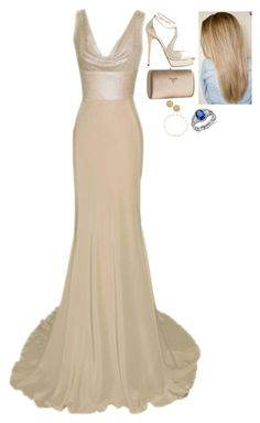 """""""Royal Tour of the US and Canada: Attending the 2015 Vanity Fair Academy Awards After-Party"""" by fashion-royalty ❤ liked on Polyvore featuring Dina bar-el, Jimmy Choo, Prada, Blue Nile, Tiffany & Co. and Roberto Coin"""