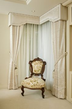 pintuck drapes with pelmet board - Google Search
