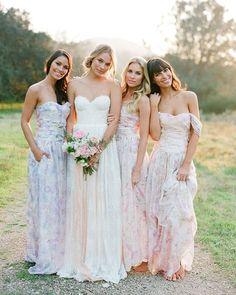 Stunning Modern Vintage Summer Bridesmaids Looks.  #bride&maids #weddinginspiration #bridesmaids #weddingplanning #vintage #wedding2016 #bridetobe