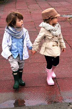 { minis in wellies }