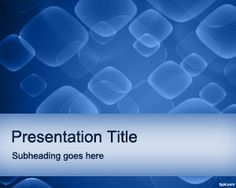 Blue Abstract #PowerPoint #Template