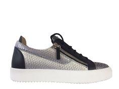f67f168431c95 Sneakers Giuseppe Zanotti - Za May London H1 en cuir imprimé python noir,  gris et