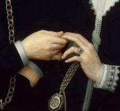 French School - Portrait of a couple, det Couple Painting, Lace Painting, Couple Art, Renaissance Jewelry, Renaissance Art, Carl Orff, Diego Velazquez, Renaissance Paintings, Classic Paintings