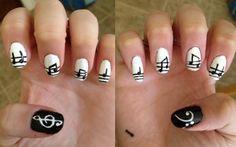 music nail art - Ellisy