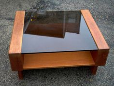 Scandinavian Design Teak and Glass Coffee Table from 1980. $225.00, via Etsy.