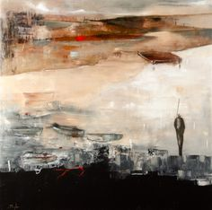 Eüveil maritime, Mixed Media Painting, Poulin