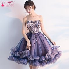 Find More Homecoming Dresses Information about Purple A Line Homecoming Dresses 2018 Charming Ruffles 3D Flowers special occasion dresses robe rouge Lace Up ZHM010,High Quality Homecoming Dresses from Tanya Bridal Store on Aliexpress.com