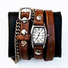 Chain Watch Strap Camel now featured on Fab.