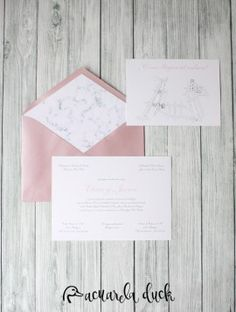 Invitación boda marmol. Invitación sobre rosa. Diseño gráfico boda.