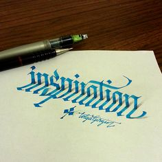 3D Calligraphy Anamorphic Letters - inspiration