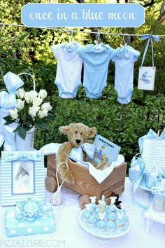 Diy your next Baby Boy Shower and save $$$ With ideas such as mint pacifiers to burlap wreaths your party will be the hit of the neighborhood.