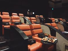 The best movie theaters in Houston: Lavish amenities now abound at cinema complexes Home Cinema Room, Home Theater Rooms, Home Theater Design, Luxury Movie Theater, Door Design Interior, Home Movies, Home Cinemas, Soft Blankets, Luxurious Bedrooms