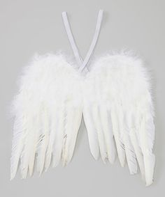 Another great find on #zulily! White Feather Dress-Up Angel Wings #zulilyfinds