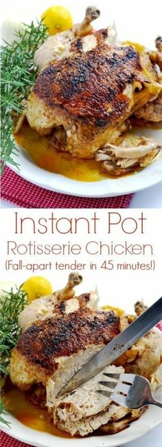 All you need is about 45 minutes to have this amazing tender, juicy Instant Pot . All you need is about 45 minutes to have this amazing tender, juicy Instant Instant Pot Pressure Cooker, Pressure Cooker Recipes, Pressure Cooking, Slow Cooker, Pressure Pot, Whole Chicken Pressure Cooker, Crockpot Recipes, Cooking Recipes, Healthy Recipes