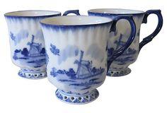 Delft Blue Mugs