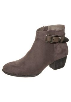 (great but not leather) Ankle boots - grey