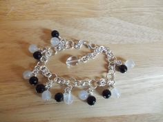 Black and white agate chainmaille charm bracelet £10.00