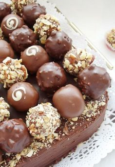 Truffle Cake - or you could add Ferrero rochers on top!