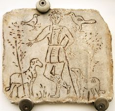 4th century depiction of Christ as the Good Shepherd