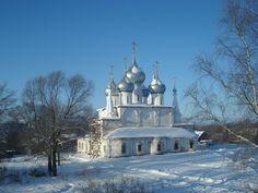 Russian monastery in winter