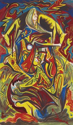 'Composition with Woman' (ca.1938-41) by Jackson Pollock