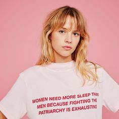 "Feminist Quote: ""Women need more sleep than men because fighting the patriarchy is exhausting"" Angele French Singer - Brol Album - Teeshirt Quote - citation féministe Woman Show, Pretty People, Beautiful People, Romeo Elvis, Divas, Feminist Quotes, Patriarchy, Models, Mode Inspiration"