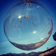 "Photo a Day August, day 3: ""Skyline"" …. through a glass bulb. @Fat Mum Slim #fmsphotoaday"