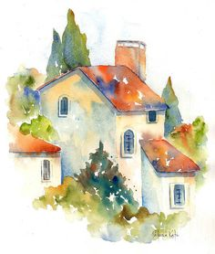Watercolor Paintings For Beginners, Watercolor Art Lessons, Watercolor Art Paintings, Watercolor Projects, Easy Watercolor, Watercolor Sketch, Watercolor Techniques, Watercolors, Watercolor Artists