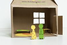 box doll house, made by joel