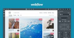 Webflow – Build dynamic, responsive websites in your browser. Launch with a click. Or export your squeaky-clean code to host wherever you'd like. Discover the professional website builder made for designers. Web Design Tools, Graphic Design Tools, Tool Design, Design Layouts, Design Web, Flat Design, Basic Website, Writing Code, Build An App