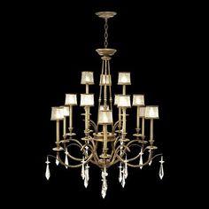 Fine+Art+Lamps+567740+15+Light+Monte+Carlo+Chandelier,+Gold+Leaf
