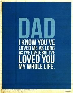 I love my dad! Excellent role model. I can only live to meet your expectations :)