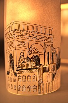 PARIS Illuminated Paper lantern Originally by ScandinavianToys, $19.00