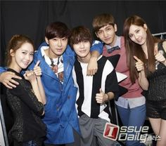 Seohyun and Yoona at Backstage with TVXQ and Taemin - Star Column