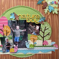 Nature Boy *My Little Shoebox* - Scrapbook.com  green
