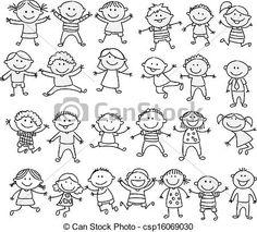 Vector - doodle, Glade,  cartoon, samling, barnet - stock-illustration, royaltyfrie illustrationer, stock-clipart-ikon, stock-clipart-ikoner, logo, stregtegninger, EPS-billede, billeder, grafisk, grafik, tegning, tegninger, vector-motiv, illustrationsmateriale, EPS vector-kunst