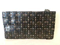 Vintage Art Deco 30s 40s Plastic Purse Black Clutch Square Tiles Jorues | eBay $39.50
