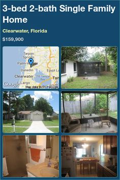 3-bed 2-bath Single Family Home in Clearwater, Florida ►$159,900 #PropertyForSale #RealEstate #Florida