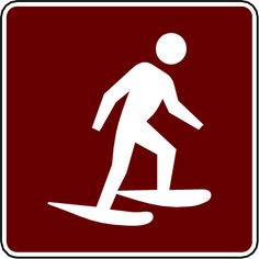 snowshoeing sign
