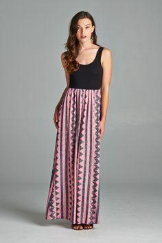 Petal & Black Geometric Maxi Dress – autumn*olive boutique