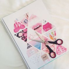 #book #Collage #diy #notebook #pink #room #triangle