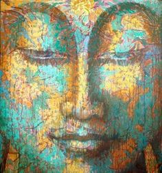 Buddha Painting by Virginia Peck, who is my new favorite artist! Art Zen, Buddha Zen, Buddha Face, Little Buddha, Buddha Painting, Buddhist Art, Art Plastique, Namaste, Oeuvre D'art