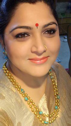 Khushbu Sundar in Gundla Mala - Indian Jewellery Designs India Jewelry, Temple Jewellery, Ethnic Jewelry, Antique Jewelry, Antique Necklace, Indian Wedding Jewelry, Bridal Jewelry, Beaded Jewelry, Gold Jewelry