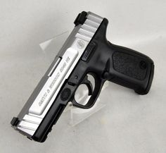 """Smith & Wesson SD40 VE .40 S&W 4"""" *NIB*. SKU 223400. Smith and Wesson's SD40 VE Sigma striker-fired pistol. Features include their SDT™ - Self Defense Trigger; dovetailed white dot sights; Picatinny-style rail; ergonomic, textured grip; textured finger locator; aggressive front and back strap texturing; distinctive two-tone finish; front and rear serrations. Polymer frame, stainless steel slide and barrel. 14+1 capacity of .40 S&W. 4"""" barrel. 22.7 oz. $349.99"""